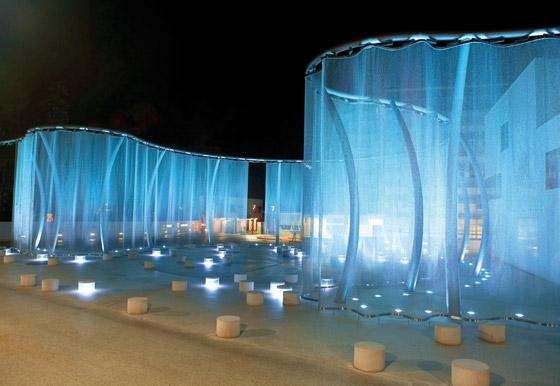 "The ""Silent Movie"" Light Curtain for Swarvoski, design: Regina Dahmen-Ingenhoven, photographer: Thomas Schäpping"